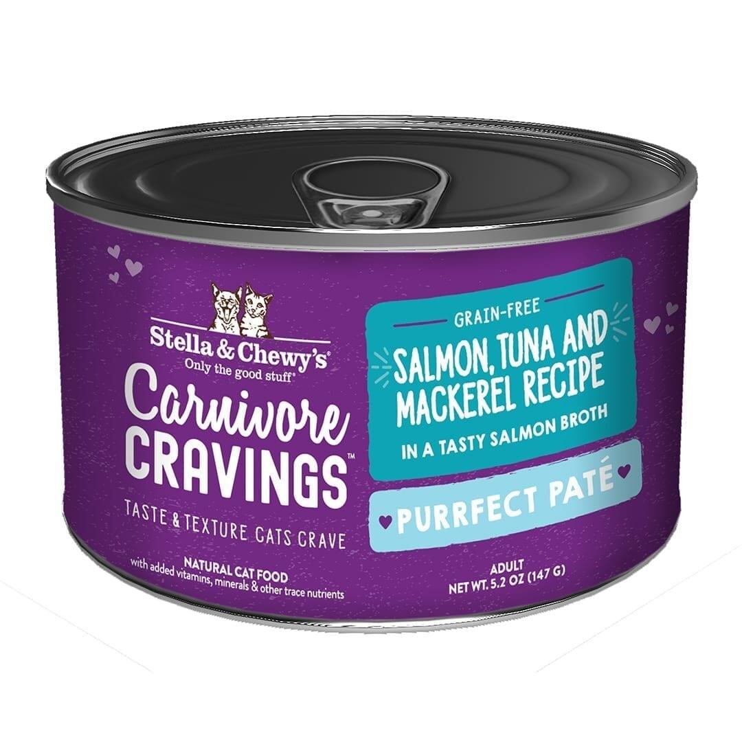 Stella & Chewys Stella & Chewys Carnivore Cravings Purrfect Pate Salmon, Tuna & Mackerel Recipe