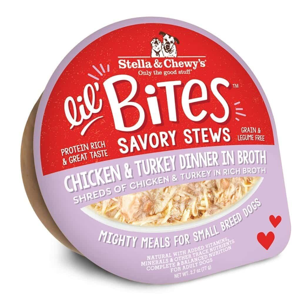 Stella & Chewys Stella & Chewys Lil' Bites Savory Stews Chicken & Turkey Dinner in Broth