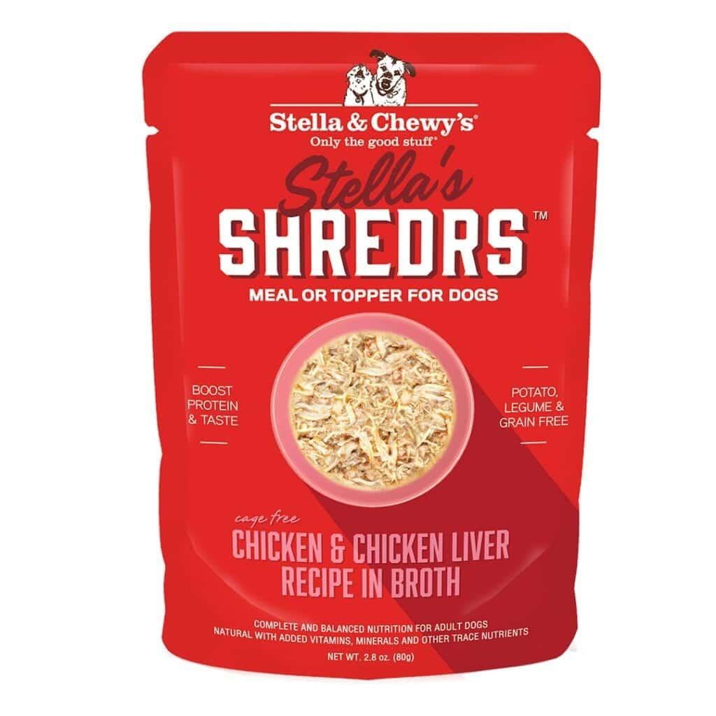 Stella & Chewys Stella & Chewys Stella's Shredrs Chicken & Chicken Liver Recipe in Broth