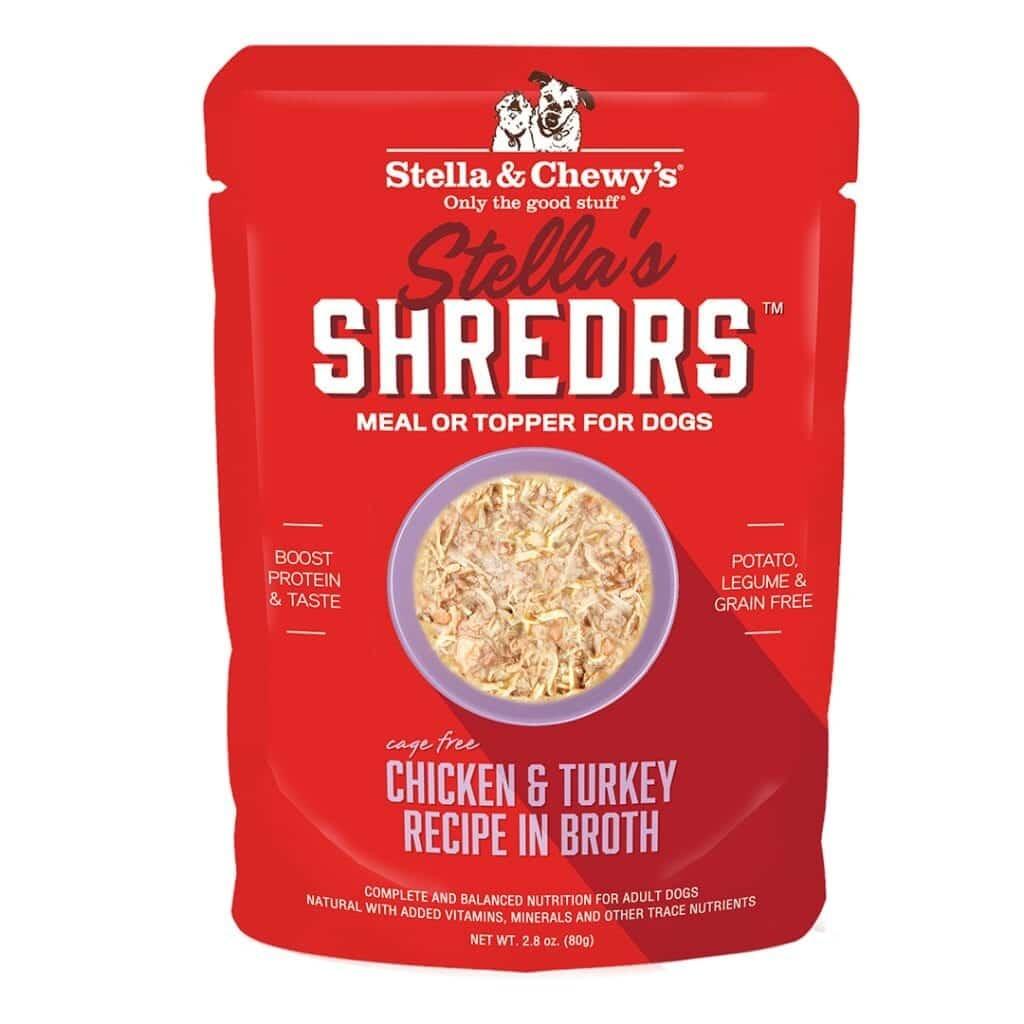 Stella & Chewys Stella & Chewys Stella's Shredrs Chicken & Turkey Recipe in Broth