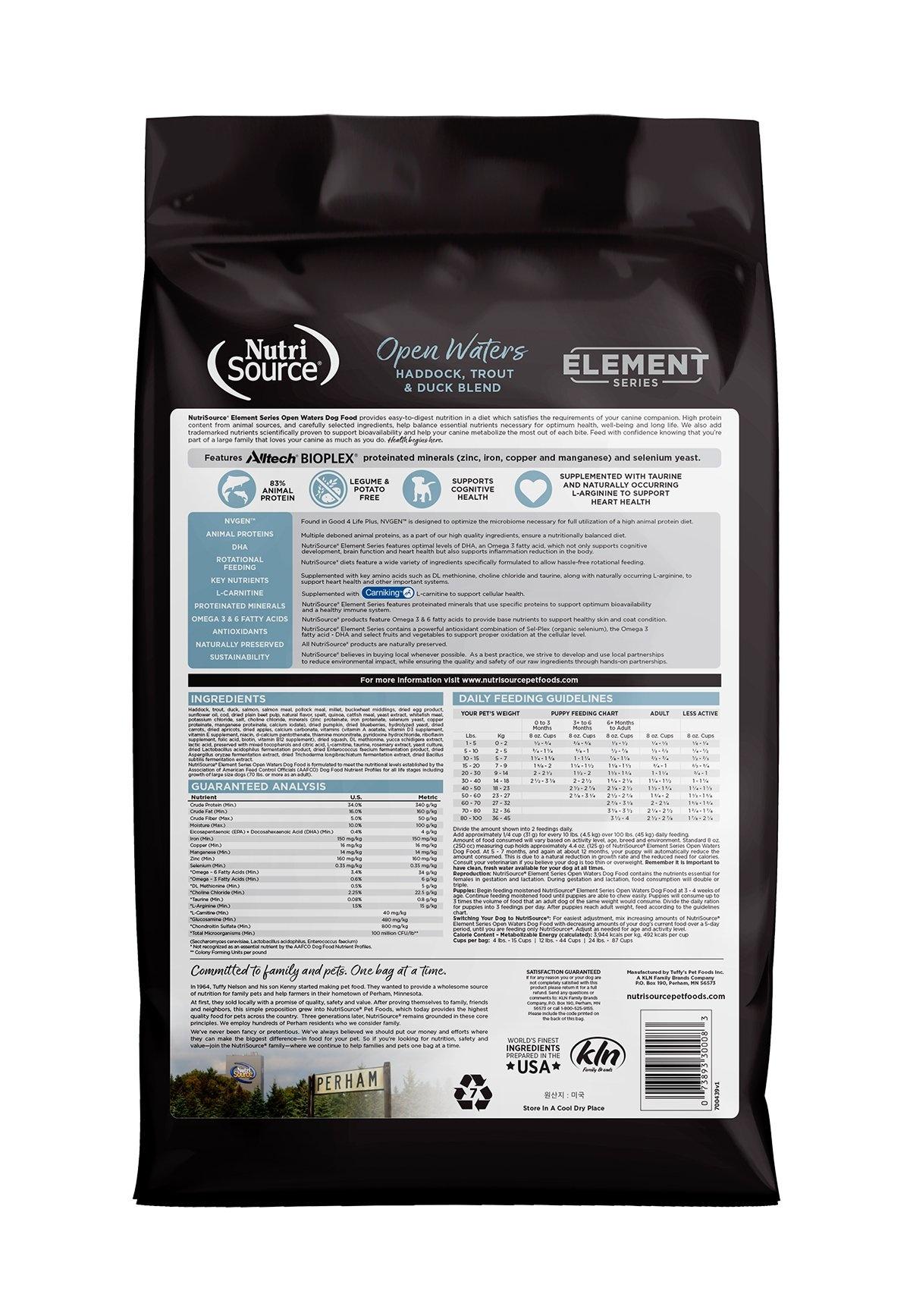 Nutrisource Nutrisource Element Series Open Waters Recipe With Heirloom Grains