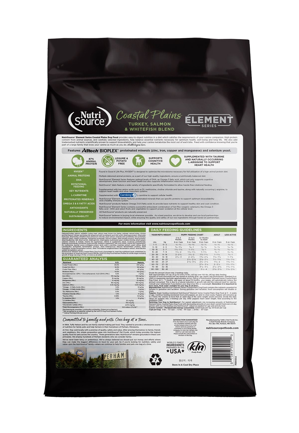 Nutrisource Nutrisource Element Series Coastal Plains Recipe With Wholesome Grains