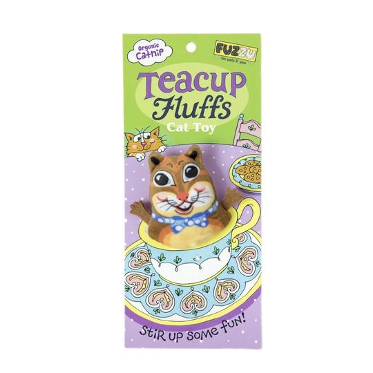 Fuzzu Fuzzu Teacup Fluffs, Chipmunk Catnip Toy