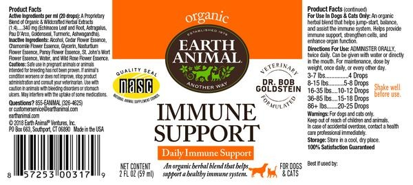 Earth Animal Earth Animal Immune Support Organic Herbal Remedy 2oz