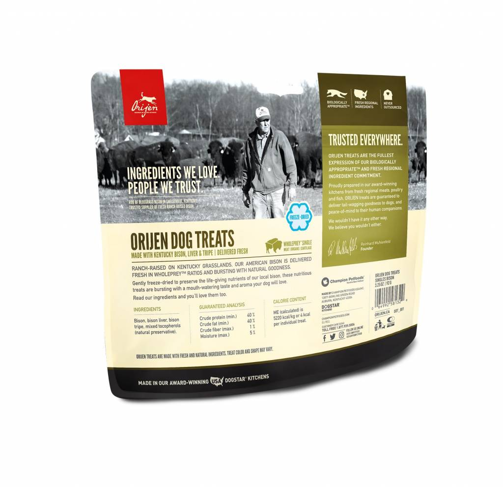 Orijen ORIJEN BISON FREEZE DRIED TREATS