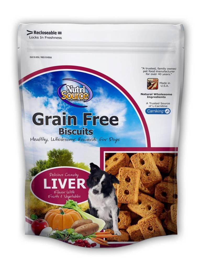Nutrisource Nutrisource Grain Free Liver Biscuits 14oz