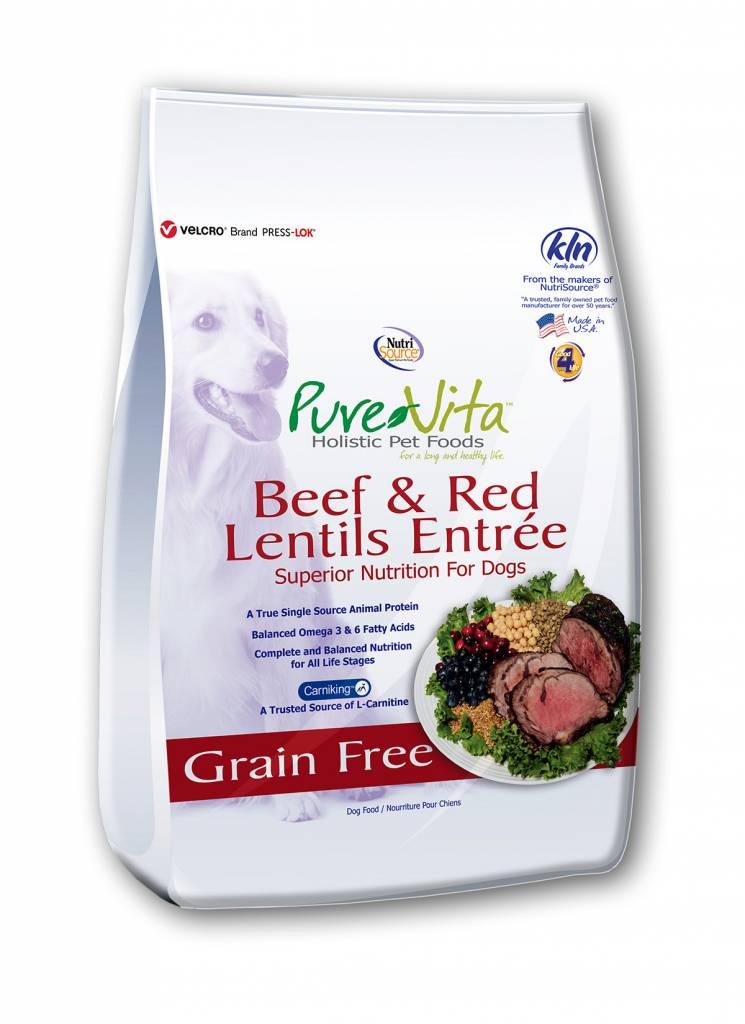 Pure Vita Pure Vita Grain Free Beef & Red Lentil