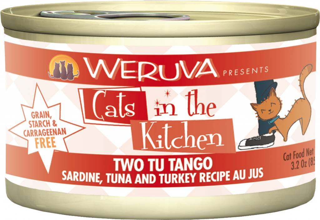 Weruva Weruva Cats in the Kitchen Two Tu Tango Sardine, Tuna and Turkey Recipe Au Jus For Cats