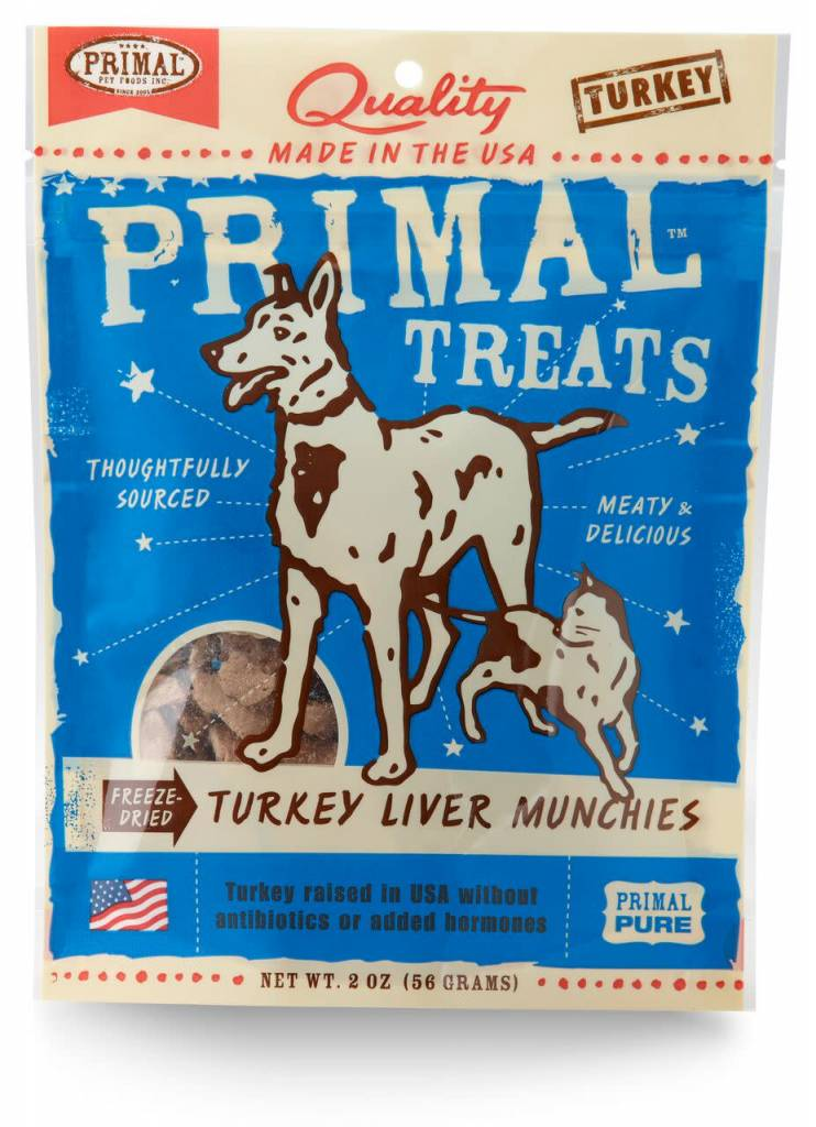 Primal Pet Foods Primal Freeze-Dried Turkey Liver Munchies 2oz