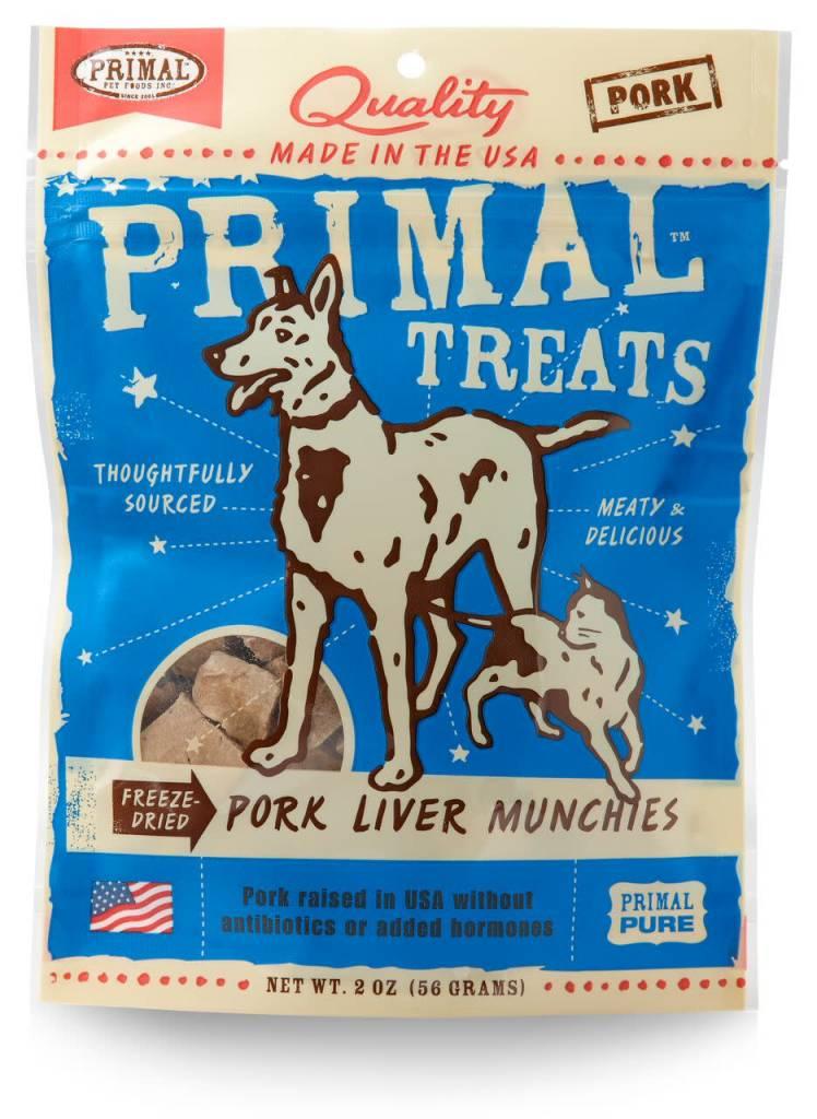 Primal Pet Foods PRIMAL FREEZE-DRIED PORK LIVER MUNCHIES 2oz
