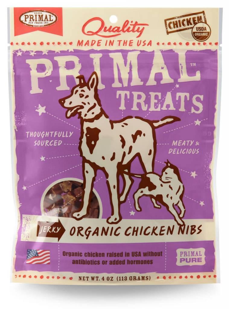 Primal Pet Foods Primal Jerky Organic Chicken Nibs 4oz