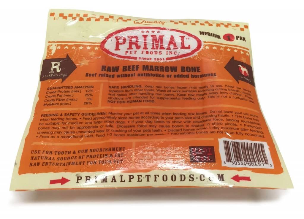 Primal Pet Foods Primal Raw Recreational Beef Marrow Bones
