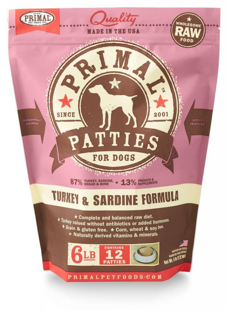 Primal Pet Foods Primal Raw Frozen Canine Turkey & Sardine Formula