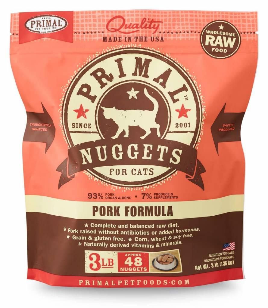 Primal Pet Foods Primal Raw Frozen Feline Pork Formula 3lb
