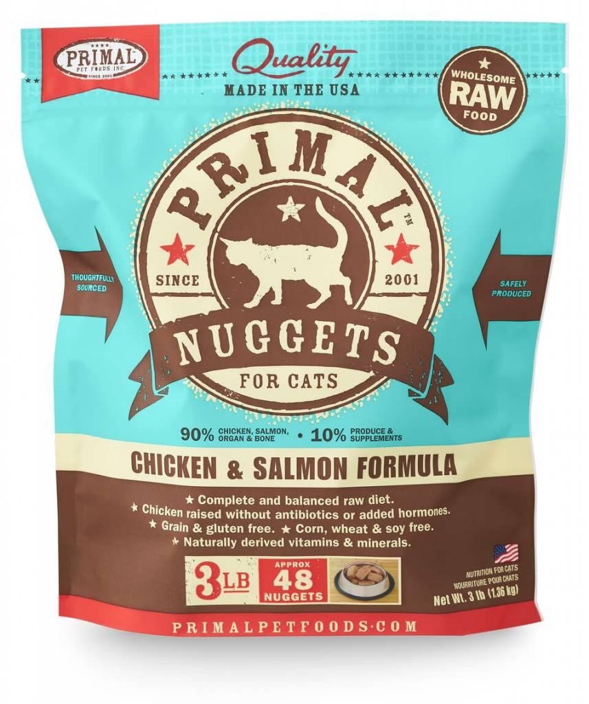 Primal Pet Foods Primal Raw Frozen Feline Chicken & Salmon Formula 3lb