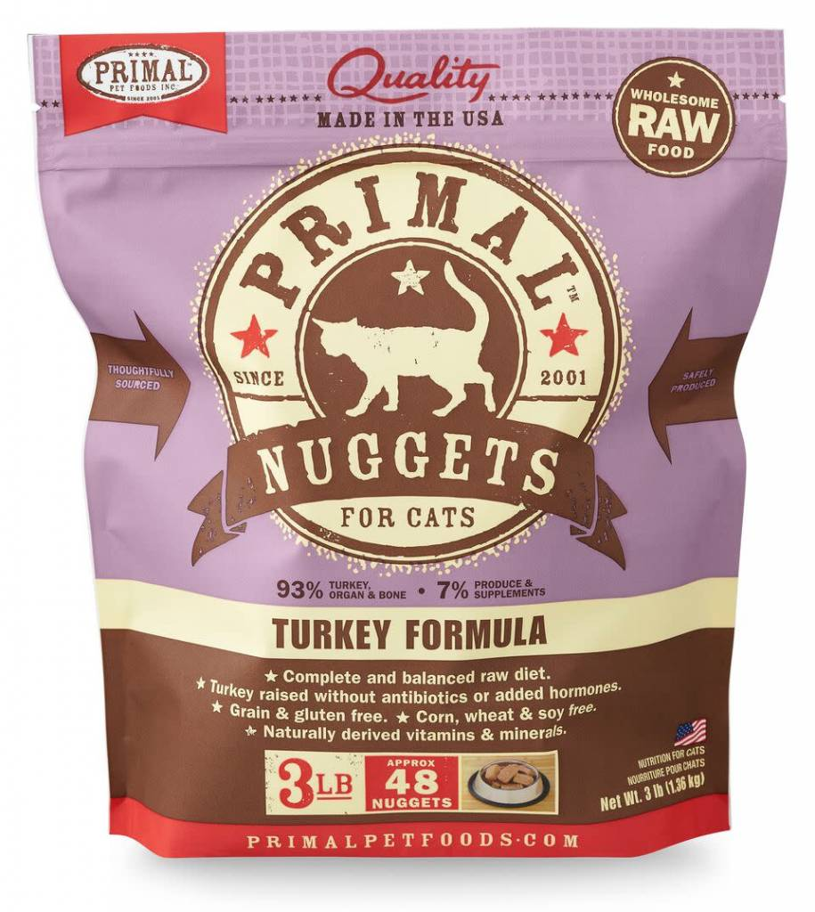 Primal Pet Foods Primal Raw Frozen Feline Turkey Formula 3lb