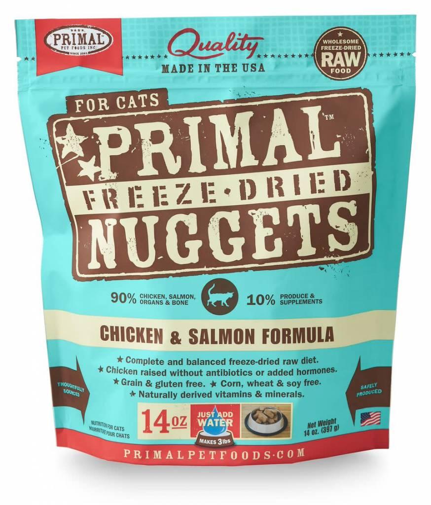Primal Pet Foods PRIMAL RAW FREEZE-DRIED FELINE CHICKEN & SALMON FORMULA 14oz