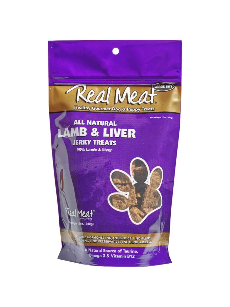The Real Meat Real Meat Lamb & Lamb Liver Jerky