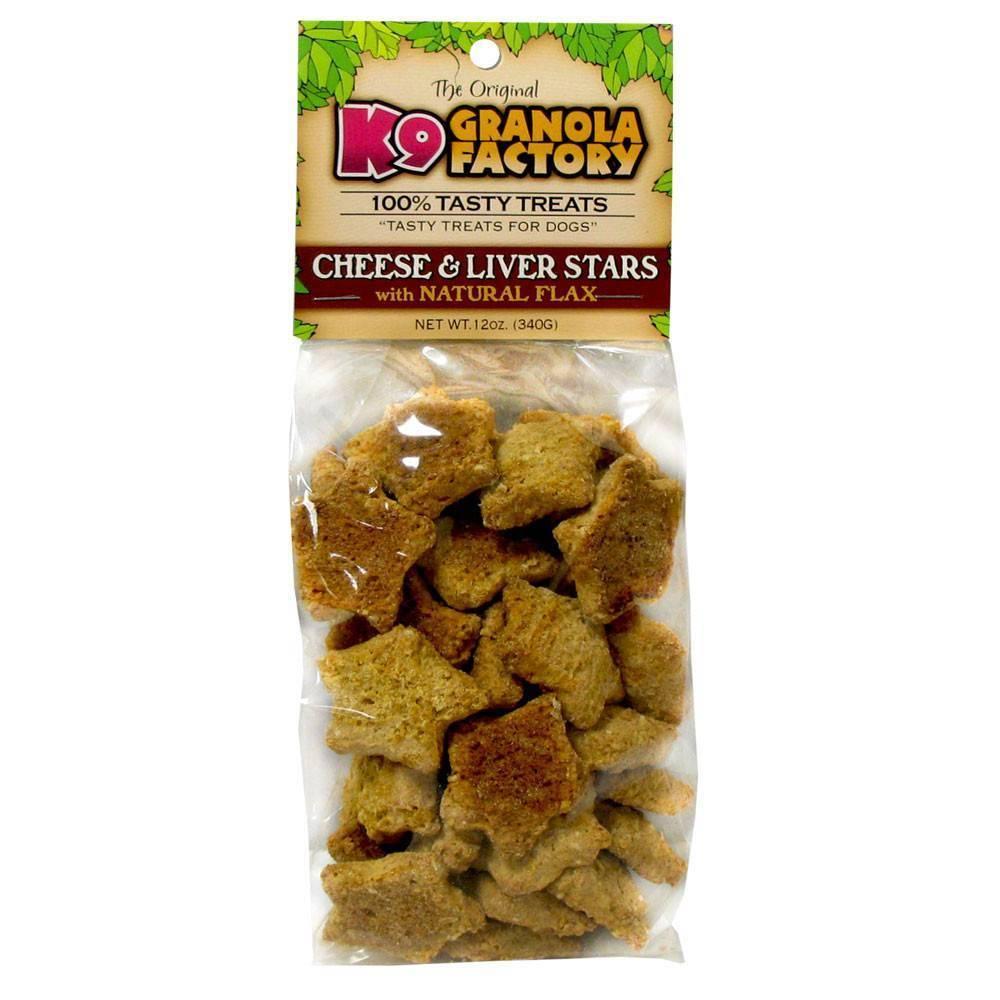 K9 Granola Factory K9 Granola Mini Liver & Cheese Stars 12oz