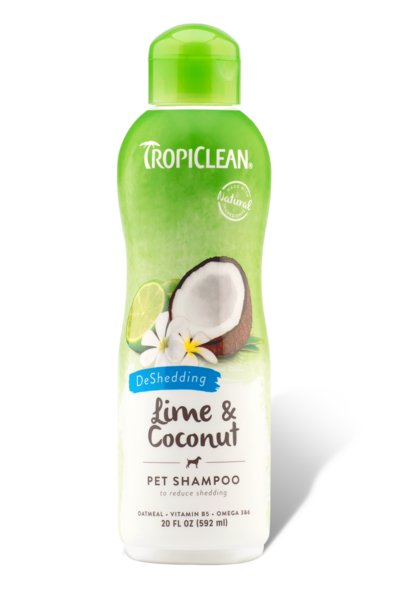 Tropiclean TROPICLEAN LIME & COCONUT, DESHED SHAMPOO 20oz