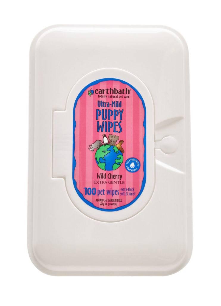 Earthbath Earthbath Ultra-Mild Puppy Wipes Wild Cherry 100ct