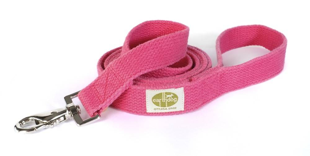 Earth Dog Earth Dog Fuchsia Hemp Leash 6' x 1""