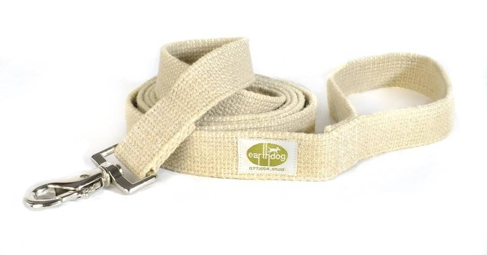 EARTH DOG EARTH DOG NATURAL HEMP LEASH 6' x 1""