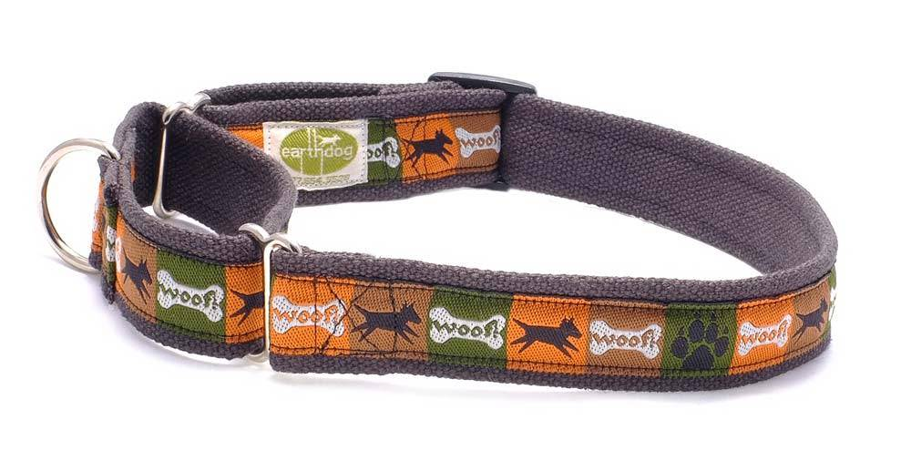 EARTH DOG EARTH DOG SAGE HEMP MARTINGALE COLLAR SM