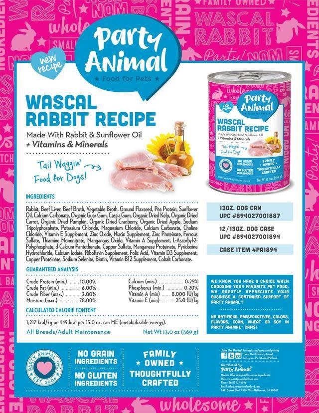Party Animal Party Animal Wascal Rabbit Recipe