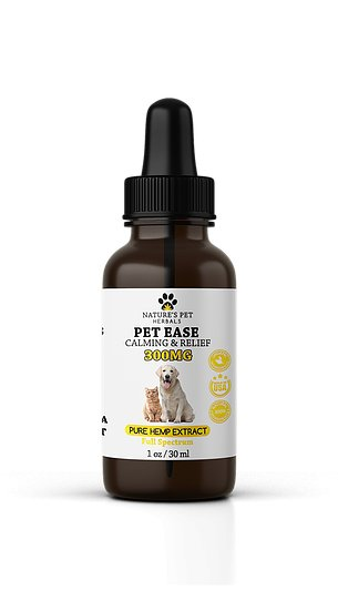 Nature's Pet Herbals Nature's Pet Herbals Pet Ease Calming & Relief CBD OIl 300mg