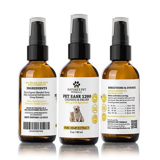 Nature's Pet Herbals Nature's Pet Herbals Pet Ease Calming & Relief CBD OIl 300mg