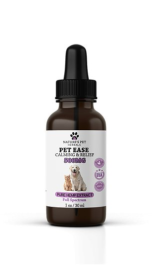 Nature's Pet Herbals Nature's Pet Herbals Pet Ease Calming & Relief CBD OIl 500mg
