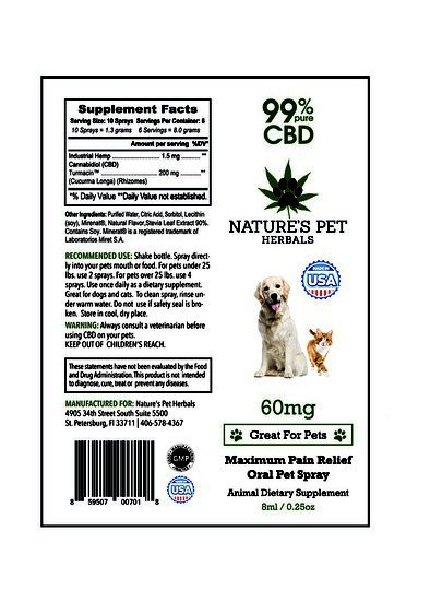 Nature's Pet Herbals Nature's Pet Herbals Pet Oral Spray for Pet Pain
