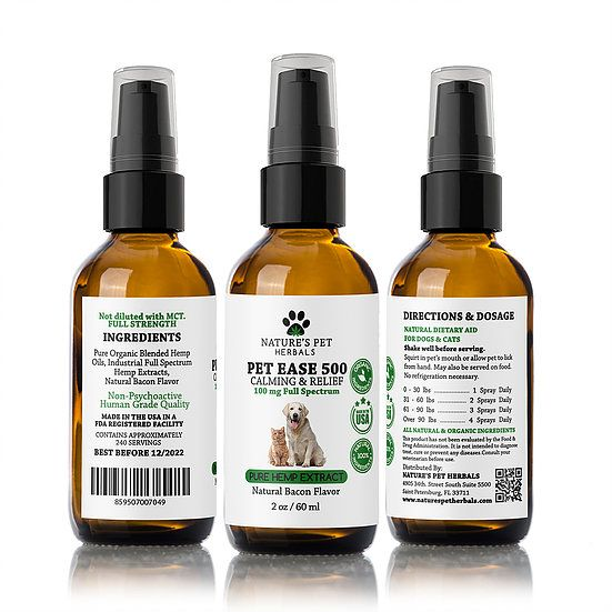 Nature's Pet Herbals Nature's Pet Herbals Pet Ease Calming & Relief CBD OIl 100mg