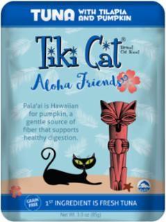 Tiki Tiki Cat Aloha Friends Tuna With Tilapia & Pumpkin Pouch