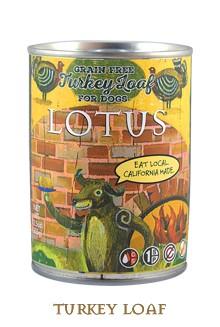 Lotus Pet Foods Lotus Grain Free Turkey Loaf