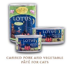 Lotus Pet Foods Lotus Grain Free Pork And Vegetable Pate For Cats