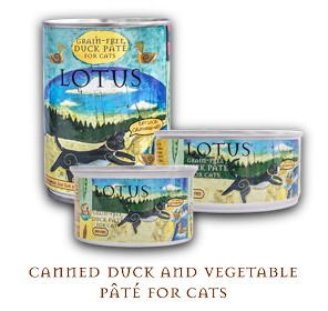 Lotus Pet Foods Lotus Grain Free Duck And Vegetable Pate For Cats