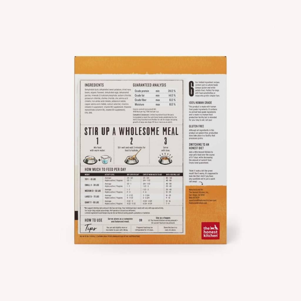 The Honest Kitchen Honest Kitchen Dehydrated Limited Ingredient Duck Recipe