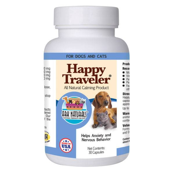 Ark Naturals Ark Naturals Happy Traveler Calming Product for Dogs and Cats, 30 Capsules
