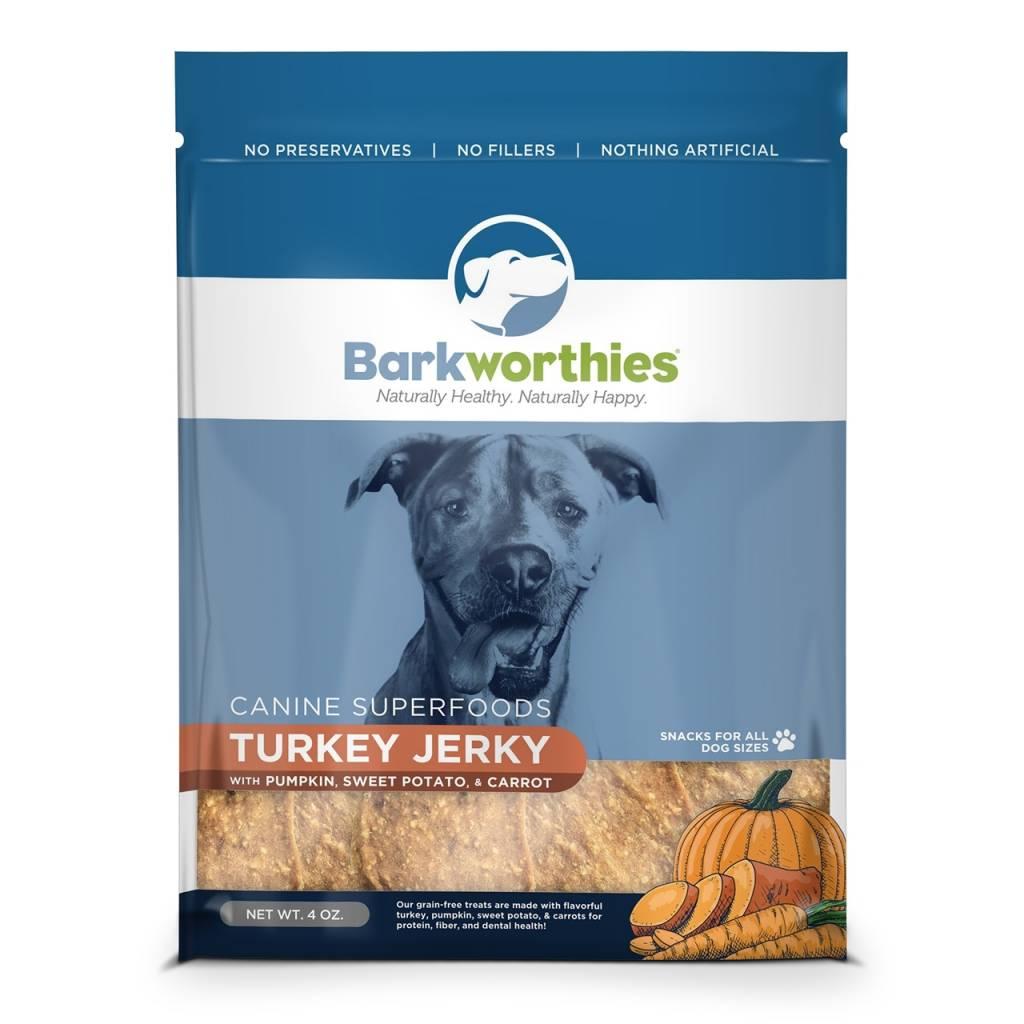 BARKWORTHIES BARKWORTHIES TURKEY,PUMPKIN & SWEET POTATO JERKY 4oz