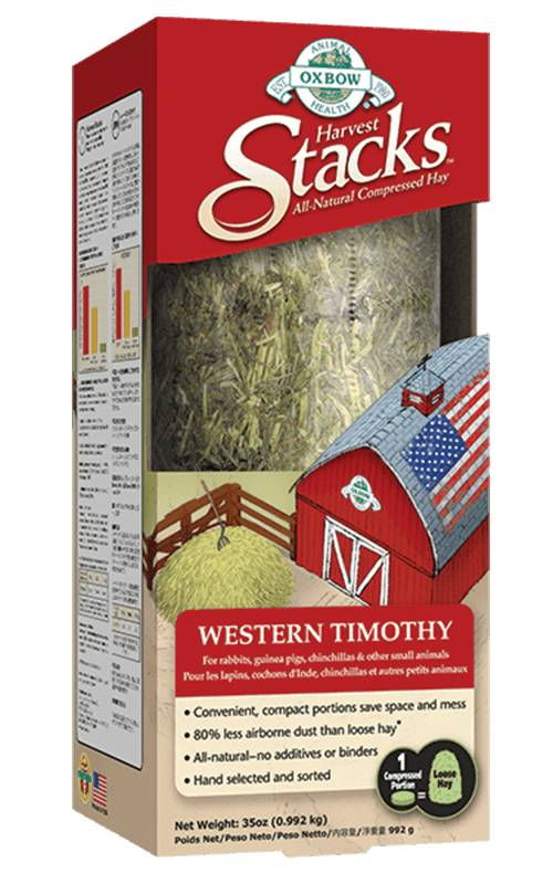 Oxbow Pet Products Oxbow Harvest Stack Western Timothy 35oz