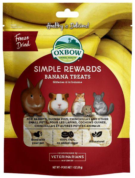 Oxbow Pet Products Oxbow Simple Reward Banana 1oz
