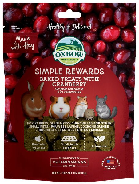 Oxbow Pet Products Oxbow Cranberry Baked 2oz