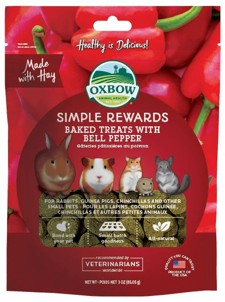 Oxbow Pet Products Oxbow Bell Pepper Baked 2oz