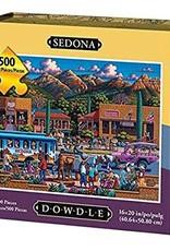 DOWDLE FOLK ART SEDONA CITY PUZZLE - 500 PIECES