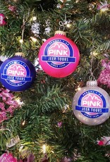 ART FOR THE YOUNG AT HEART CHRISTMAS ORNAMENT - PJT LOGO - PINK