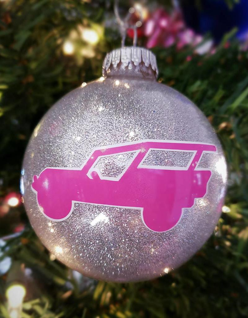 ART FOR THE YOUNG AT HEART CHRISTMAS ORNAMENT - PJT LOGO - SILVER