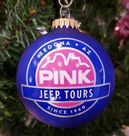 ART FOR THE YOUNG AT HEART CHRISTMAS ORNAMENT - PJT LOGO - BLUE