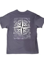 EMI SPORTSWEAR PEACHED COMPASS TEE NEW BLUE